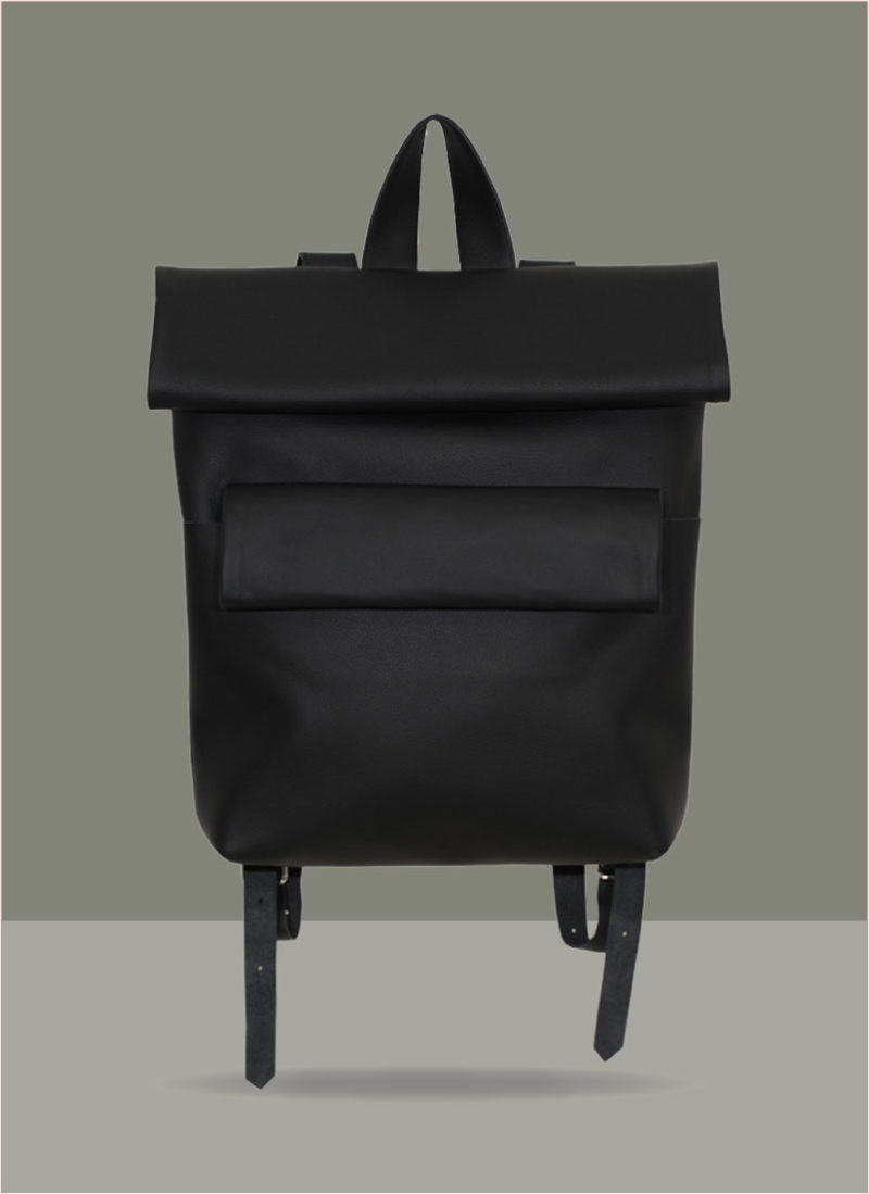 Double-Rollitbag-black-leather – front